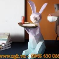 bàn composite decor hình thỏ cao cấp