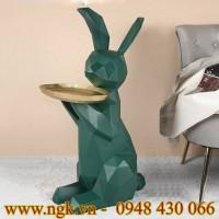 Bàn decor hình chú thỏ composite cao cấp