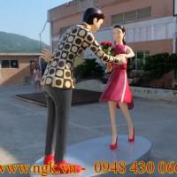 mô hình cặp đôi khiêu vũ composite cao cấp