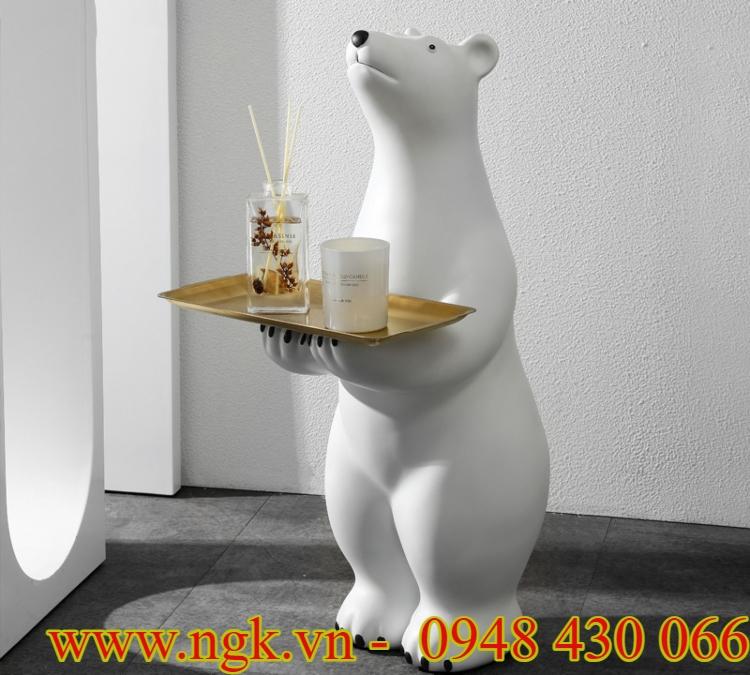 bàn decor bằng nhựa composite