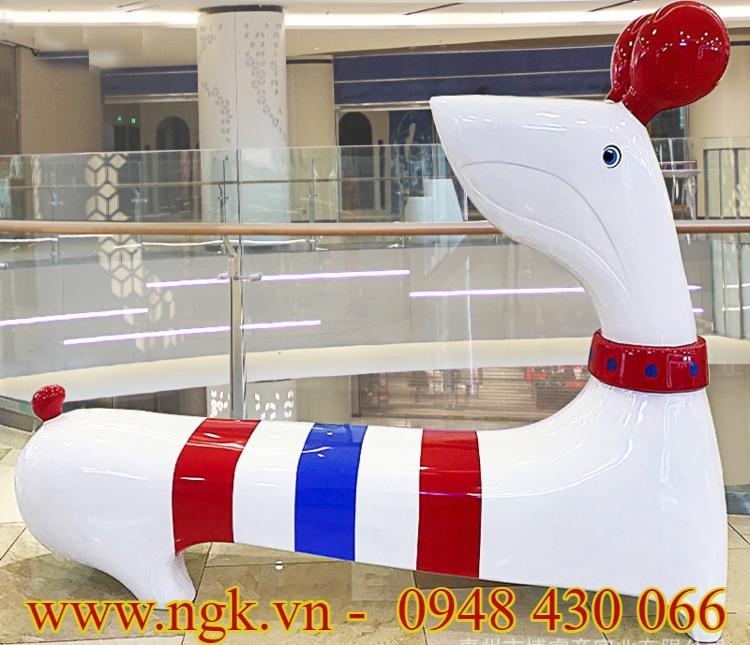 ghế composite hình cún giá rẻ
