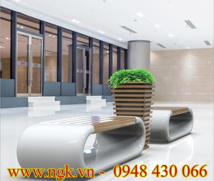 ghế nhựa composite phối giả gỗ