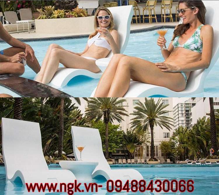 ghế tắm nắng composite cao cấp
