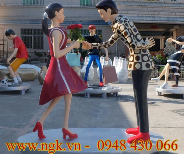 mô hình cặp đôi khiêu vũ bằng nhựa composite