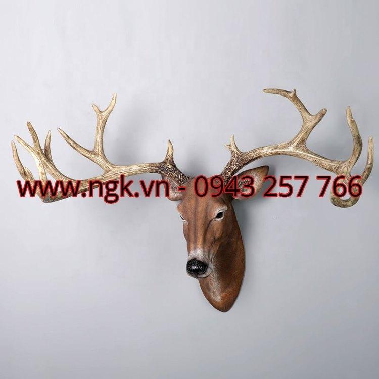 tượng đầu hươu composite